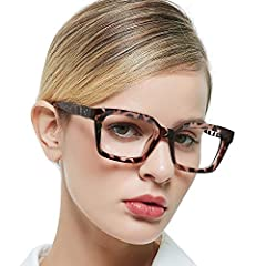 MEASUREMENT:Lens width:50mm(1.97''), Bridge:21mm(0.83''), Arm:140mm(5.51''), Frame width:141mm(5.55''),Frame height:37mm(1.46'').This Womens reading glasses have black,demi,orange and purple colors.You can choose 0.0x,1.0x,1.5x,2.0x,2.5x,3.0x,3.5x,4....