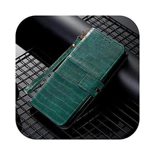Funda para Samsung Galaxy S8 S9 Plus S10E S20 FE S21 Ultra S7 Edge Funda de piel con tapa para Samsung Galaxy Note 8 9 Note 10 Lite-Green-for J6 2018