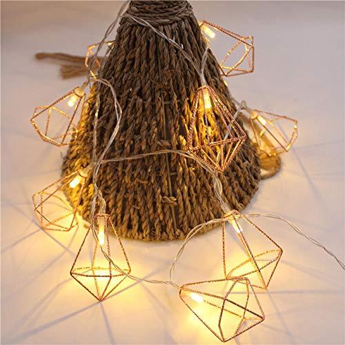 Luces de cortina, caja de batería, cadena de luz, luz de noche, dormitorio, Navidad, 1,8 M10 luces (15 cm de espacio)