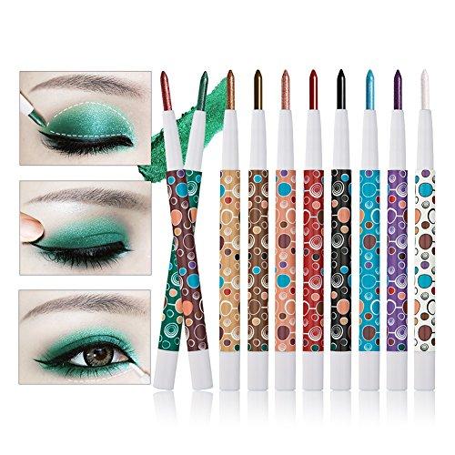 TININNA 10 Stück beweglicher mehrfarbiger Augenschatten Bleistift wasserdichter haltbarer Funkeln...