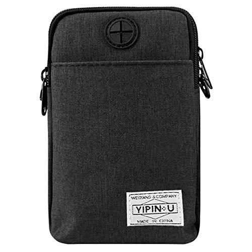 Handy-Holster, Mehrzweck-Handytasche, Smartphone-Tasche, Sicherheits-Geldbörse, Handy-Gürteltaschen für Männer und Frauen schwarz
