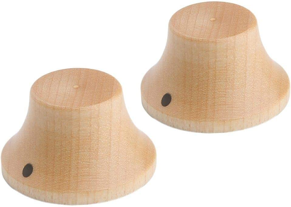 Don't miss the Max 75% OFF campaign Dopro 2pcs Wood Knobs LP Strat Style Control Bell Kno