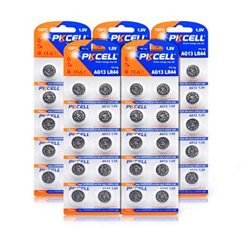 50PC x A76 SR44 LR44 357 AG13 1.5V Button Cell Battery
