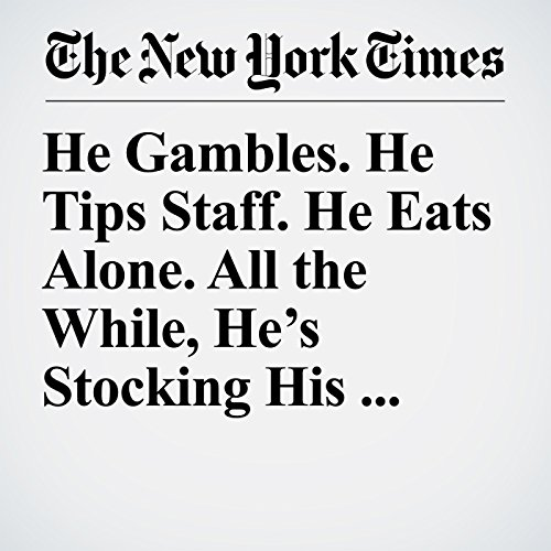 He Gambles. He Tips Staff. He Eats Alone. All the While, He's Stocking His Vegas Suite With Guns. copertina