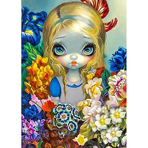Shinyamal DIY Diamond Painting Kit Big Eyes Doll Full Round Drill Handicraft (A1830)