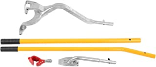 Qiilu Stark Tire Mount Demount Tool, Aluminum Tire Changer Tools Tubeless Truck Bead with Extra Bead Keeper