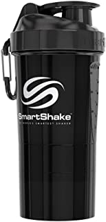 SmartShake(スマートシェイク) プロテインシェイカー O2GO BLACK 600ml