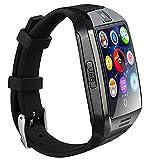 SmartWatch, reloj inteligente Bluetooth Q18 de 1.54 pulgadas, compatible con cámara NFC, tarjeta TF, reloj inteligente para teléfono Android, iOS, iPhone, Huawei Samsung (plateado)