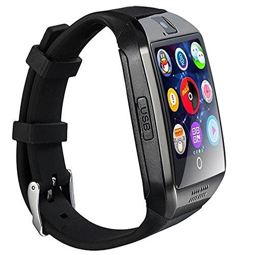 SmartWatch, 1,54 inch Bluetooth SmartWatch Q18 Polshorloge Ondersteuning NFC Camera TF-kaart Smart Horloge voor Android Telefoon IOS iphone Huawei Samsung, ZILVER