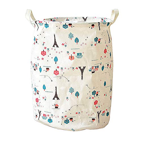 WESEEDOO wäschekorb Stoff wäschekorb Baby Babykorb zur Aufbewahrung von Kleidung Korbspeicher Stoffaufbewahrungskorb Baby Wäschekorb Spielzeugkorb