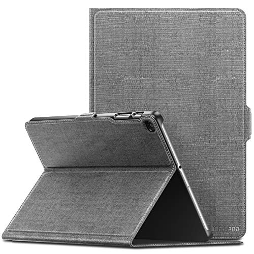 INFILAND Case for Samsung Galaxy Tab A 10.1 2019, Multi Angles Viewing Front Support Case compatible with Samsung Galaxy Tab A T510/T515 2019 (10.1'') Tablet,Gray