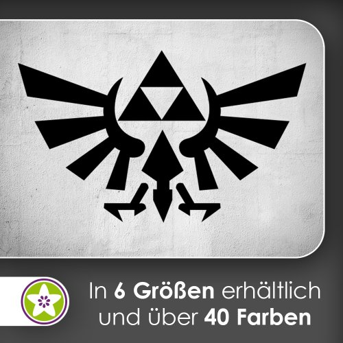 Kiwistar Triforce Wandtattoo in 6 Größen - Wandaufkleber Wall Sticker
