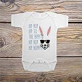 Baby Strampler Hip Hop Ostern Einteiler 90er Ostern Outfit Einteiler Overall Baumwolle Bodysuit Weiche Onesies mit Knopf für Kleinkind Säugling Neugeborene Junge & Mädchen Krabbeln
