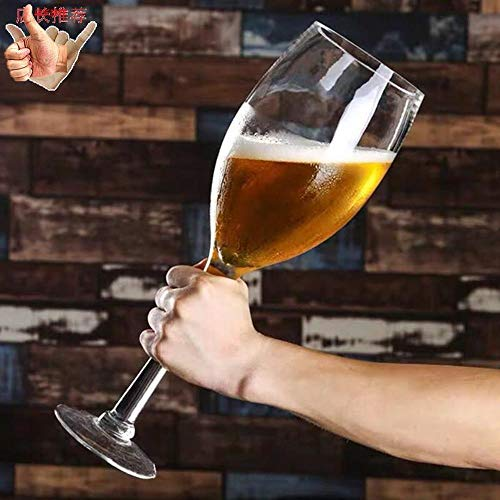 SUSU Riesiger Übergroße Weinglas Und Kreative Riesen Drinking Game Props Party Brille Indoor Großvolumige Bier-Becher-Cup-Held B- 3L(3000ml)