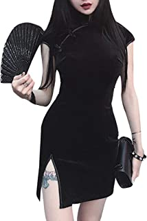 Women Slim Short Sleeve Modified Chinese Cheongsam Party Sexy Dress