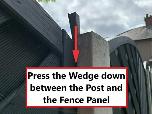 Tape Tech Fence Panel Wedges (20 Pack) Noise Stoppers Security Brackets Stop Fence Panels Rattling & Banging in the Wind