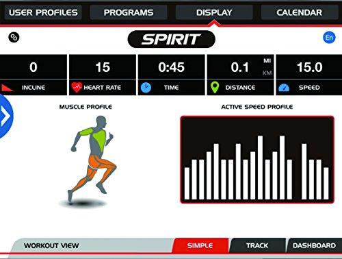 Spirit Elliptical XE 395 – Ellipsentrainer, Cross Trainer mit Hand-Puls-Sensoren, Ergometer, Cardio Fitness - 9
