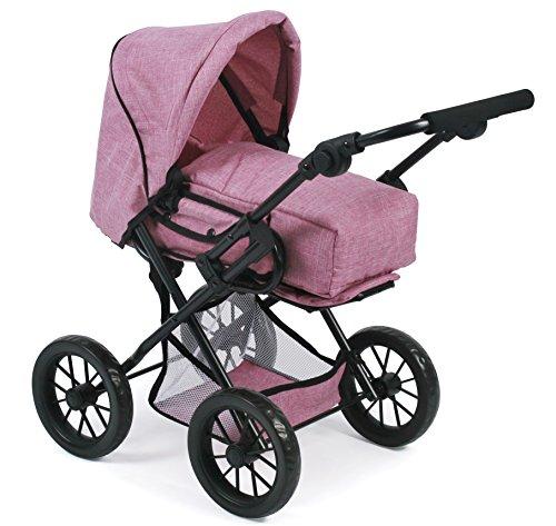 Bayer Chic 2000 560 70 Kombi-Puppenwagen Leni, Jeans pink