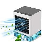 Mobile Klimaanlage, Luftkühler Klein Persönliche Klimaanlage, Tragbare 4 in 1 Verdunstungsgerät Luftbefeuchter Lufterfrischer Ventilator 3 Geschwindigkeiten für Schlafzimmer Wohnzimmer Büro