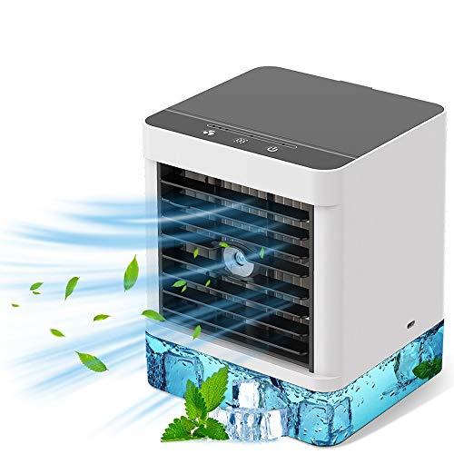 Mobile Klimaanlage, persönliche Klimaanlage, 4-in-1-Luftkühler, Luftbefeuchter, Ventilator, 3 Leistungsstufen, ideal für Arbeit und Zuhause