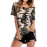 PRJN Camisa de Mujer Camiseta de Manga Corta Tops Casuales Blusa para Damas Tops de Mujer Blusas Camisetas Camisas de Manga Corta Camiseta Estampada de Manga Corta Suelta para Mujer Top Casual