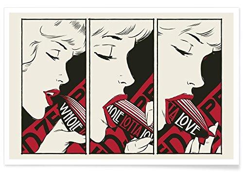 Juniqe® Affiche 60x90cm Érotique Pop Art - Design PornZeppelin (Format : Paysage) - Poster, Tirages d'art & Tableaux par des Artistes indépendants créé par Butcher Billy