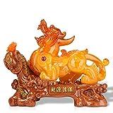Estatua China de Feng Shui Feng Shui Pi Xiu Estatua Resina Pi Yao Figura Atrae Riqueza y Buena Suerte Decoración de Oficina en casa Decoración de Feng Shui