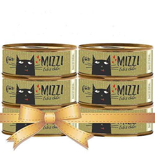 seit 1893 Bubeck Katzenfutter getreidefrei | mit Ente & Huhn | hochwertiges Katzenfutter | 6 x 100g | Katzennassfutter Adult | hoher Fleischanteil