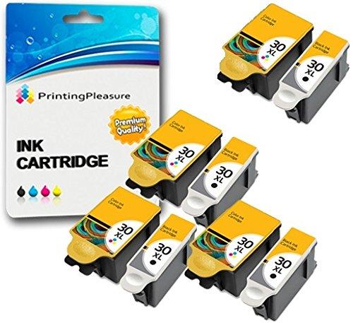 8 XL Druckerpatronen für Kodak ESP C100, C110, C115, C300, C310, C315, C330, C360, 1.2, 3.2, 3.2S, Office 2100, 2150, 2170 AIO, Hero 2.2, 3.1, 4.2, 5.1 | kompatibel zu Kodak 30B, 30CL