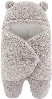 جديد حقيبة الساق التفاف الكرتون الطفل رومبير الرضع الخريف الشتاء سماكة الكشمير كان (Color : Gray, Size : 6M)