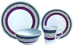 UNBREAKABLE DINNERWARE: Leisurewize dinner set is strong, promising you of a long lifespan. The Melamine dinner set is unbreakable even when dropped, making it ideal for families with young children. Portable dinnerware is safe for outdoor trips, pic...