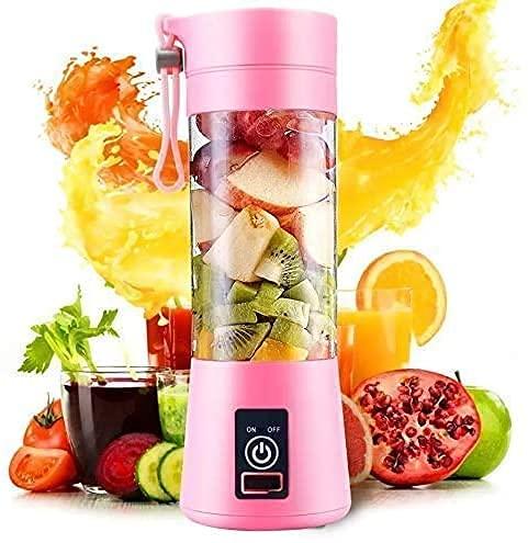 Generic Portable Electric Mini USB Juicer Bottle Blender for Making Juice Travel Juicer for Fruits and Vegetables Fruit Juicer for All Fruits Juicer Hand Machine(4 Blades-Multicolour)