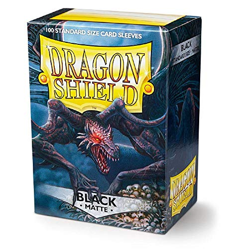 Dragon Shield Matte Black Standard Size 100 ct Card Sleeves Individual Pack