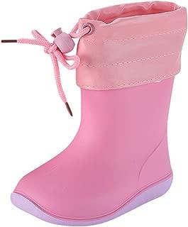 🌟 Sherostore 🌟 Children's Waterproof Non-Slip Rain Rubber Boots for Little Kids Girls Boys - Fun Cartoon Animal Shoes