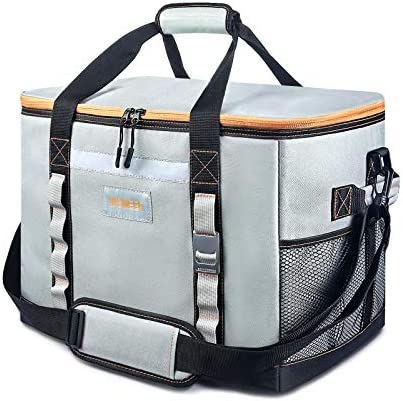 2021 New INSMEER Large Cooler Bag 65 Can Leak Proof Lunch Box Insulated Collapsible Easy Clean product image