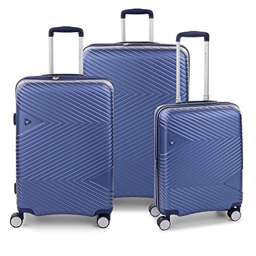 RONCATO Arrow Set 3 maletas rígidas ampliables (larg. + medio + cabina) 4 ruedas Tsa Azul