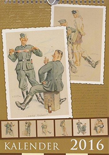 Wandkalender 2016 Soldatenkalender Karikaturen 2. Weltkrieg Pin-Ups Wehrmacht