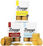 Dewey's Bakery Moravian Cookie Thin Variety Pack   Baked in Small Batches   Real, Simple Ingredients   Southern Bakery Recipes   15 Calories Per Cookie   Pack of 3 9-oz boxes