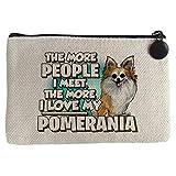 Diver Bebé Monedero I love my Pomerania raza perro - Beige, 15 x 10 cm