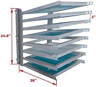 TECHTONGDA Screen Frame Rack Shelf Storage Holder 8 Layers Screen Printing Shop Rack Screen Dryin