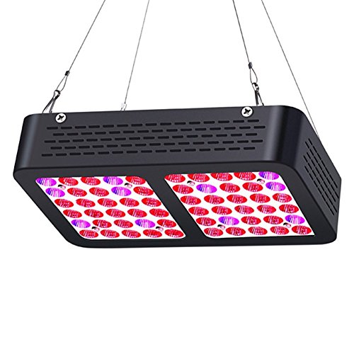 LKLED 300W LED Grow Light, AEJSLOK Reflector Plant Grow Light Full Spectrum with UV/IR for Indoor Hydroponic Greenhouse Plants Veg and Flower