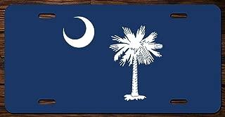 South Carolina State Flag Vanity Front License Plate Tag Printed Full Color KCFP020