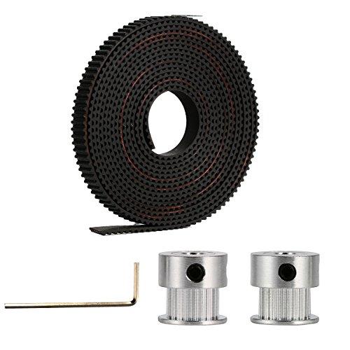 Accessori per stampanti 3D: 2x GT2 20T Timing Pulleys + 2m GT2 Timing Belt Per RepRap 3D Drucker Prusa i3