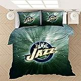 ACJIA Utah Jazz de Cama Duvet Cover Set, Deportes Admirador, Decorativo, 3 Piezas Juego de Cama con 2 Almohada Shams,A,200x200cm