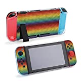 SUPNON Carry Case Compatible with Nintendo Switch, Ultra Slim Hard Shell, Protective Carrying Case for Travel - Knitted Mexican Blanket Pattern Design15874