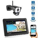 CasaCam VS1001 Wireless Security Camera System with 7' Touchscreen and HD Spotlight Camera, AC Powered (Spotlight 1-cam kit)