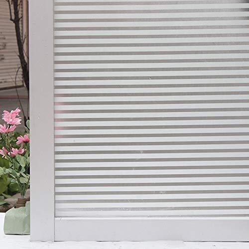 LMKJ Película para Ventanas de Vidrio Opaco Esmerilado, Adhesivo de Vidrio sin Pegamento para la protección de la privacidad de Las Ventanas, película de Vidrio de Rayas estrechas A92 30x100cm
