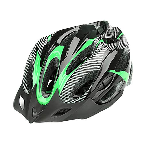 Perfeclan Casco de Bicicleta para Adultos, Casco de Seguridad para Bicicleta de Carretera de montaña para Hombres y Mujeres 21 Rejillas Casco de Choque - Negro Verde