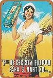 Bigyak Panettone Motta - Cartel tradicional vintage de estaño con logotipo de 12 x 8 publicidad...
