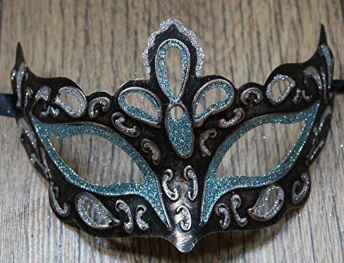 Life Is Good Hommes ET Dames Magnifique Rialto Turquoise Bleu Or Bronze et d'argent vénitien Masque de Mascarade pour Les Yeux Carnaval